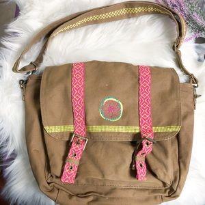 American Girl Canvas Messenger Bag Embroidered